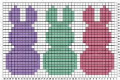Crochet Bunny Pillow Sham - Repeat Crafter Me Hoppy Day! My bunny project is finished and I Crochet C2c, Crochet Rabbit, Easter Crochet, Crochet Pillow, Tapestry Crochet, Filet Crochet, Crochet Stitches, Baby Knitting Patterns, Knitting Charts