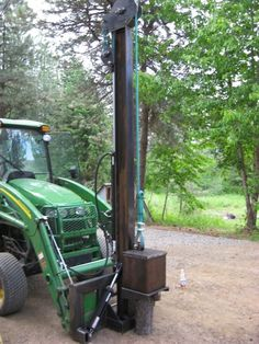Awesome Home Built Attachments - TractorByNet Metal Projects, Welding Projects, Diy Projects, Pile Driver, Homemade Tractor, Crane Lift, Tractor Accessories, Tractor Implements, Ideas