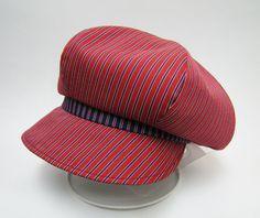 【カスタムオーダー例】ボリュームのあるキャスケット。レジメンタルストライプ   #casquette #ピーチブルーム帽子店