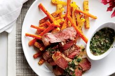 Pan-Seared Steak with Roasted Roots