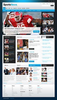 Sport Website Template # 35725