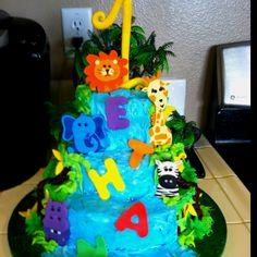 Ethan's safari birthday cake!