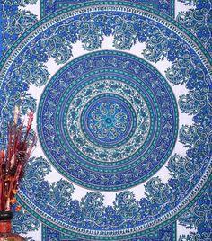 Magical Thinking Blue Mandala Boho Bohemian Tapestry | GoGetGlam
