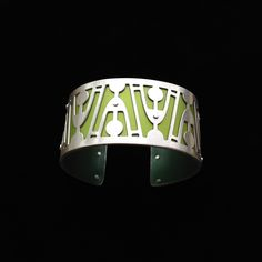 Handmade from sterling silver and anodized aluminum. #ilovegogojewelry #jetson #cuff
