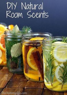 DIY Natural Room Scents (this is such a great idea!)