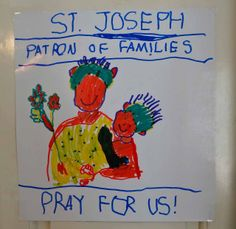 Poster to celebrate St. Joseph's feast day!