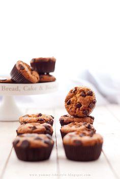 Bananowe muffiny 'chocolate chip cookie' / Banana muffins 'chocolate chip cookie'