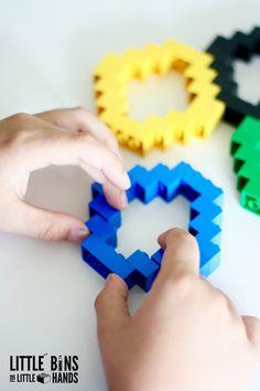 LEGO Olympic Rings Activity With Basic Bricks