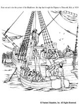 1000 images about coloring pages puzzles on pinterest for Mayflower coloring page