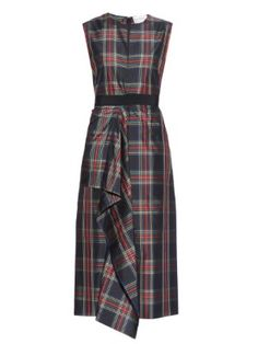 Tartan-plaid sleeveless dress | Maison Rabih Kayrouz | MATCHESFASHION.COM US