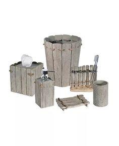 Destinations - Driftwood 2 Waste Basket Tissue Box Covers, Tissue Boxes, Destinations, Bathroom Wall Decor, Bath Decor, Beachy Bathroom Ideas, Room Decor, Bathroom Sets, Bathroom Faucets