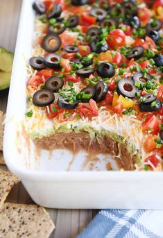 This easy 7-layer dip is the best of the best thanks to a few secret (and simple) mix-ins that take it to the next level. It's a tried-and-true favorite! | melskitchencafe.com Appetizer Dips, Appetizer Recipes, Savoury Recipes, Guacamole, Peach Frozen Yogurt, Seven Layer Dip, 7 Layer Mexican Dip, 7 Layer Taco Dip, Mexican Dips