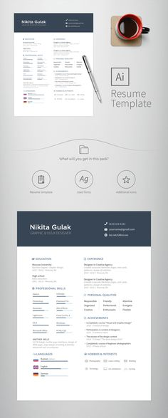 Free a4 Resume on Behance Tips And Tricks Pinterest A4, Free