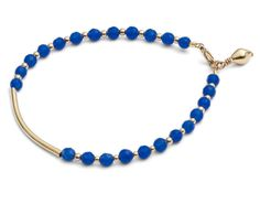 "CINDERELA B Ocean Blue Jade Gemstone Amulet Friendship Bracelet (""Friendship"") | Lush Labels British designed jewellery, accessories & gifts"
