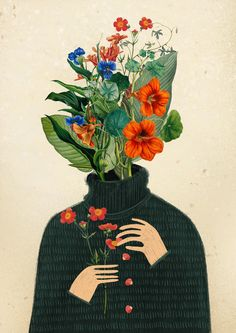 collage drawings on Behance Collage Drawing, Collage Art, Collage Tattoo, Collage Portrait, Art Sketches, Art Drawings, Nature Collage, Flower Collage, Illustration Art