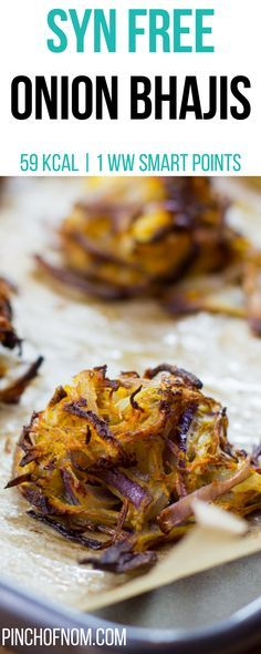 Syn Free Onion Bhajis Pinch Of Nom Slimming World Recipes 59 kcal Syn Free 1 . - Syn Free Onion Bhajis Pinch Of Nom Slimming World Recipes 59 kcal Syn Free 1 Weight Watchers Sma - Slimming World Fakeaway, Slimming World Dinners, Slimming World Breakfast, Slimming World Recipes Syn Free, Slimming Eats, Healthy Meals To Cook, Easy Healthy Recipes, Healthy Cooking, Vegetarian Recipes
