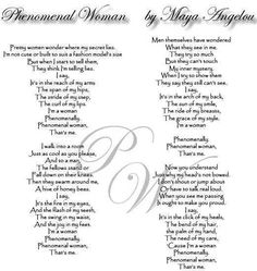 I'm a Phenomenal Woman
