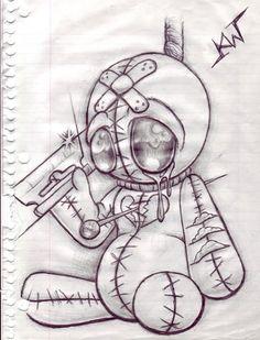 "Vodoo Doll Sketch ""Heart Broken"" photo by Prison Drawings, Badass Drawings, Easy Drawings Sketches, Sad Drawings, Dark Art Drawings, Horror Drawing, Graffiti Drawing, Horror Art, Broken Heart Drawings"