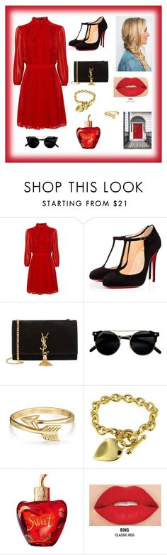 """HANDS TO MYSELF"" by bb-rodrigues on Polyvore featuring moda, Christian Louboutin, Yves Saint Laurent, Bling Jewelry, Lolita Lempicka e Smashbox"