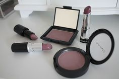 MAC lipstick in Brave and blush in Cubic