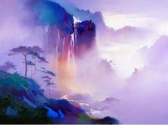 Китайский художник H. Leung. Красивый пейзаж маслом третий