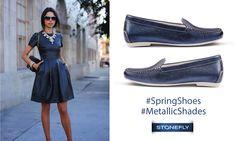 Versione contemporanea e chic di un grande classico #Stonefly: il #mocassino Capri. Oggi indossalo in pelle blu metallizzata, magari abbinato ad un mini abito in blu o denim! Scoprilo subito! >> http://ow.ly/4nefc6