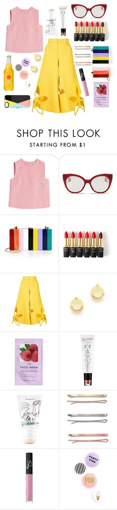 """""""Rainbow Girl"""" by annebjorgum on Polyvore featuring Valentino, Miu Miu, Milly, L'Oréal Paris, Rosie Assoulin, Kate Spade, H&M, too cool for school, Madewell and NARS Cosmetics"""