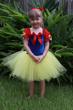 Snow white inspired custom Halloween costume tutu by primafashions, $36.99
