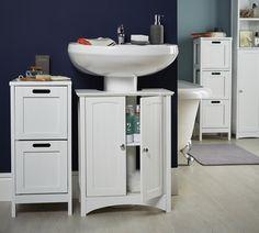 Bathroom Under Sink Storage dynan cabinet with door, white | personal storage, toilet and sinks
