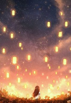 e-shuushuu kawaii and moe anime image board Scenery Wallpaper, Wallpaper Backgrounds, Fantasy Landscape, Fantasy Art, Anime Scenery, Pretty Art, Anime Art Girl, Cool Pictures, Illustration Art