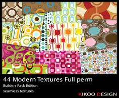 Seventies textures Modern textures 70's mood * Full perms * Builders Pack Edition