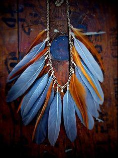 fabriquer collier plumes