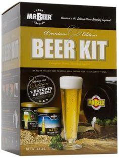 Mr. Beer Premium Gold Edition Home Brewing Craft Beer Kit | whatgiftshouldiget.com