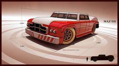 MAZ 541 road monster by 600v.deviantart.com on @deviantART