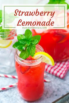 Strawberry Lemonade is the perfect warm weather beverage because it is so easy to make and everyone loves flavored lemonades during the warm weather.