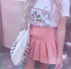 Shirt: peach, pink, pastel, japanese, japan, tumblr, pastel goth ...