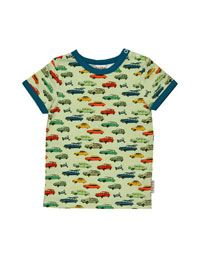 Baba Babywear - Ecru T-shirt met retro auto's