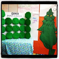 """Grinch """"Punch-A-Bunch"""" game with trivia questions from the story...great for a class holiday party."""