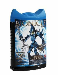 "LEGO Bionicle Legends Kiina by LEGO. $33.35. Kiina is armed with a dual-headed vapor trident and spiked Thornax launcher. Blue in color, Kiina belongs to the Water tribe. Includes 1 Life Counter for the new BIONICLE battle game. Measures 7"" tall. Contains 43 pieces. Be sure to visit BIONICLE official website for games, galleries and more. From the Manufacturer                A female Glatorian of the water tribe, Kiina wants nothing more than to get away from Bara ..."