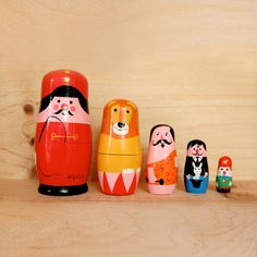 Ingela P. Arrhenius' first nesting dolls were made of wood! These are the only sets that I don't own. Must find them!
