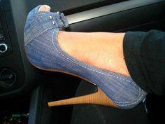 Denim shoes <3