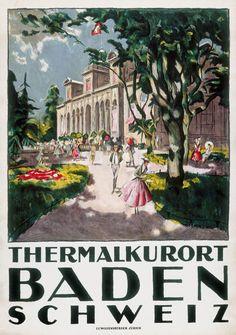 Thermalkurort Baden - 1916 - (Otto Baumberger) -