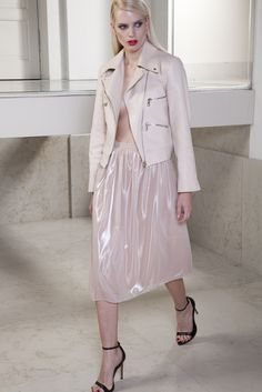 Nude Leather Jacket | Jovana Markovic | NOT JUST A LABEL