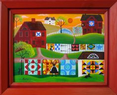 Image detail for -folk art folk art painting tole painting tole painting patterns Canvas Artwork, Artwork Prints, Landscape Art Quilts, Tole Painting Patterns, Primitive Folk Art, Print Artist, Art Decor, Art Gallery, Art Paintings