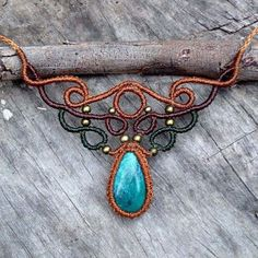 «GORGEOUS Peruvian Turquoise necklace  uniquely woven by our own two hands - a one of a kind Eucalypto design  This baby will be available on Sunday at…»