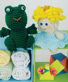 Crochet Little Princess & Frog Crochet Pattern.  Red Heart Free Pattern - no membership required.