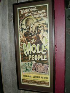 "Rare ""The Mole People"" Original Insert"
