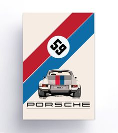 Art Products for Classic Porsche Enthusiasts. Printed Metal Signs, Posters, Decals, and t-shirts accessories for Porsche 550 Cars. Porsche 911, Carros Porsche, Porsche Panamera, Vintage Racing, Vintage Cars, Porsche Cayenne, Ferdinand Porsche, Vintage Porsche, Car Illustration