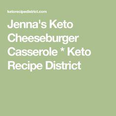 Jenna's Keto Cheeseburger Casserole * Keto Recipe District
