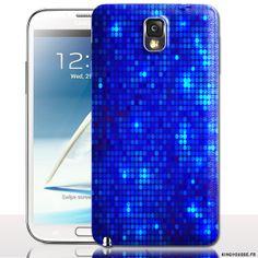 Coque portable Samsung Galaxy NOTE 3 Strass Bleu - Coque antichocs rigide. #GalaxyNote3 #Strass #Coque #Bleu
